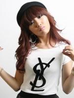 เสื้อยืดแฟชั่น คอกลม แขนสั้น สีขาว สกรีนตัวอักษร SYL น่ารัก (ใหม่ พร้อมส่ง) ร้าน LadyShop4U