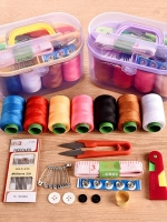 กล่องชุดคิทตัดเย็บ กล่องพร้อมอุปกรณ์ (คละสี)