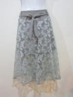 (สีเทา)กระโปรงกางเกง กระโปรงแฟชั่น กระโปรงทำงาน กระโปรงลำลอง เอวด้านหลังเป็นยางยืด กางเกงขาสั้น ผ้าลูกไม้ยาว มีโบว์ผูกด้านหน้า กางเกงด้านในสีกาแฟ ดูดี (ใหม่ พร้อมส่ง) ladyshop4u