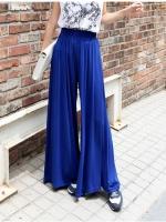 กางเกงขาบาน กางเกงขายาว สีน้ำเงิน (ใหม่ พร้อมส่ง)ร้าน Ladyshop4u