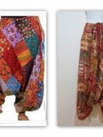 กางเกงไปเที่ยวทะเล กางเกงจินนี่ กางเกงแฟชั่น กางเกง ขายาว เอวเป็นยางยืด ขาจั๊ม สีน้ำตาล ใส่สบาย (ใหม่ พร้อมส่ง) ร้าน ladyshop4U