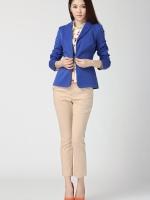 เสื้อคลุม แขนยาว สีน้ำเงิน คุณภาพดีมาก(สินค้าใหม่ พร้อมส่ง) ร้าน Ladyshop4u
