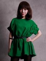 (สีเขียว) เสื้อยืดแฟชั่น เสื้อยืดเกาหลี สีเขียว คอกลม แขนสั้น(ใหม่ พร้อมส่ง) ร้าน Ladyshop4u