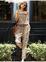 จั๊มสูท ขายาว ชุดหมี ผ้าชีฟองสีสันสดใจ กางเกงขายาว เกาะอก (ใหม่ พร้อมส่ง) ร้าน Ladyshop4u