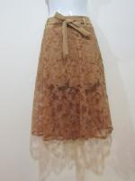 (สีกาแฟ)กระโปรงกางเกง กระโปรงแฟชั่น กระโปรงทำงาน กระโปรงลำลอง เอวด้านหลังเป็นยางยืด กางเกงขาสั้น ผ้าลูกไม้ยาว มีโบว์ผูกด้านหน้า กางเกงด้านในสีกาแฟ ดูดี (ใหม่ พร้อมส่ง) ladyshop4u