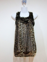 เสื้อลายเสือ เสื้อเซ็กซี่ เสื้อใส่เที่ยว เสื้อแฟชั่น ผ้าชีฟอง ลายเสือ เบาสบาย เซ็กซี่่ ดูดี (ใหม่ พร้อมส่ง) ร้าน LadyShop4U