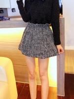 กระโปรงสั้น ทรงสุ่ม เอวยางยืด สีเทา กระโปรงแฟชั่นเกาหลี (ใหม่ พร้อมส่ง) ladyshop4U