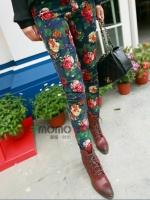 กางเกงแฟชั่น กางเกงสกินนี่ กางเกงขายาว กางเกงลายดอก (ใหม่ พร้อมส่ง) LadyShop4U