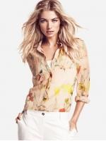 เสื้อแขนยาว ผ้าชีฟอง สีครีมพิมพ์ลาย แบบสวยงานเย็บสวย(สินค้าใหม่ พร้อมส่ง) ร้าน Ladyshop4u