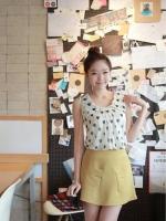 กระโปรงแฟชั่น กระโปรงทำงาน กระโปรงเกาหลี กระโปรงสั้น เอวสูง สีเหลือง สวย น่ารัก ดูดี (ใหม่ พร้อมส่ง) LadyShop4U