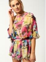 เสื้อแฟชั่นเกาหลี ผ้าชีฟอง สีลูกกวาด แขนค้างคาว เอวยางยืด (ใหม่ พร้อมส่ง) ร้าน Ladyshop4u