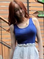 เสื้อยืดแฟชั่นเกาหลี สีน้ำเงิน คอกลม แขนกุด เข้ารูป(ใหม่ พร้อมส่ง) ร้าน Ladyshop4u