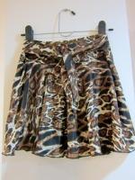 กระโปรง+กางเกง กระโปรงแฟชั่น กระโปรงทำงาน กระโปรงสั้น กางเกงกระโปรง ลายเสือ สีน้ำตาล กางเกงด้านในสีดำ สวย ดูดี (ใหม่ พร้อมส่ง) LadyShop4U