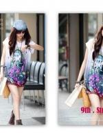 (สีม่วง)เสื้อลำลอง เสื้อแฟชั่น สีม่วง ผ้ายืด คอกลม (ใหม่ พร้อมส่ง) ร้าน LadyShop4U