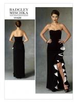 แพทเทิร์นตัดเดรสเกาะอก กระโปรงผ่าหน้าเล่นระบาย Vogue 1426 ไซส์ปกติ Size: 6-8-10-12-14 (อก 30.5-36 นิ้ว)