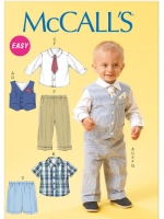 แพทเทิร์นตัดชุดเด็กชาย Mccalls 6873 Size: NB-S-M-L-XL