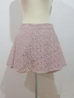 (ไซส์ L สีโอวัลติน ) กระโปรงกางเกง กางเกงกระโปรง ผ้าลูกไม้ กางเกงด้านเป็นผ้าลูกไม้สีโอวัลติน ซิปหลัง (ใหม่ พร้อมส่ง) ร้าน ladyshop4u