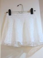 (สีขาว) กระโปรง+กางเกง กางเกงกระโปรง กระโปรงแฟชั่น กระโปรงทำงาน ผ้าลูกไม้ สีขาว เอวด้านหลังเป็นยางยืด กางเกงด้านในสีขาวสวย ดูดี (ใหม่ พร้อมส่ง) ladyshop4u