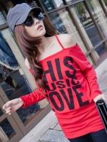 ชุดเดรสสั้น ชุดเดรสแฟชั่น สีแดง คอปาด แขนยาว กระโปรงเข้ารูป (ใหม่ พร้อมส่ง) ร้าน Ladyshop4u