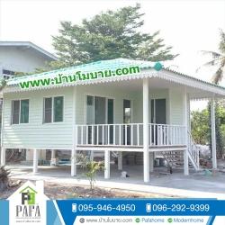 บ้านขนาด 6.5*6 เมตร (1ห้องนอน 1ห้องน้ำ 1ห้องนั่งเล่น 1ห้องพระ)