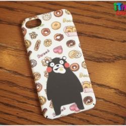 iPhone 7 - เคสแข็งปิดขอบ ลาย Kumamon enjoy food