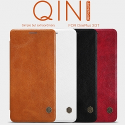 OnePlus 3, OnePlus 3T - เคสฝาพับ หนัง Nillkin QIN Leather Case แท้