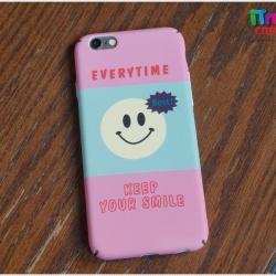 iPhone 6, 6s - เคสปิดขอบ ลายหน้ายิ้ม EVERYTIME