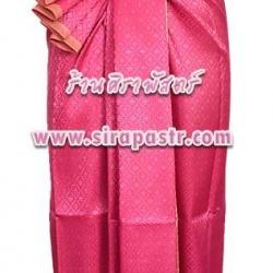 ชุดไทย-ประยุกต์ สีชมพูเข้ม (เกาะอก+ผ้าฯ*แบบจับสด) *รายละเอียดตามหน้าสินค้า