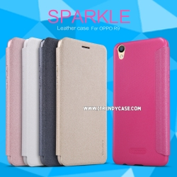 OPPO F1 Plus - เคสฝาพับ Nillkin Sparkle leather case แท้