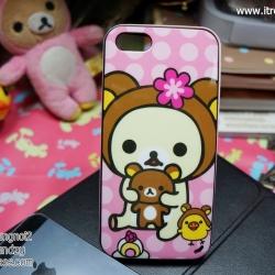 iPhone 5, 5S, SE - เคส Face Idea ลาย Rilakkuma ตัวขาว