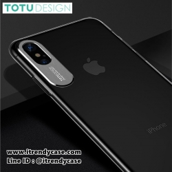 iPhone X - เคสใส Sparkling Series Lexury Aluminium Protect Camera TOTU DESIGN แท้