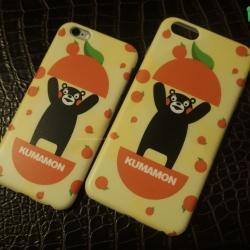 iPhone 6, 6s - เคสหมีดำ คุมะมง (Kumamon) ลายส้ม