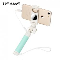 ไม้ถ่ายรูป USAMS Selfie Stick With Mini Mirror สำหรับ iPhone 7 / 7 Plus แท้