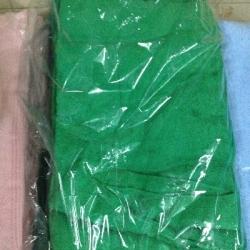 ผ้าขนหนู Cotton100% ผ้าเช็ดตัว สีเข้ม 7ปอนด์ คละสี 24*48นิ้ว โหลละ 940บาท ส่ง 10โหล