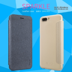 OPPO R11 - เคสฝาพับ Nillkin Sparkle leather case แท้