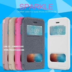 iPhone 5, 5s, SE - เคสฝาพับ Nillkin Sparkle leather case แท้