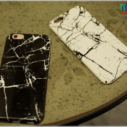 iPhone 7 - เคสแข็งปิดขอบ ลายหินอ่อน (สีขาว,สีดำ)