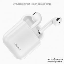USAMS F10 LC Series Bluetooth Headphones หูฟังบลูทูธไร้สาย พร้อมตลับชาร์จ สไตล์ Airpod แท้