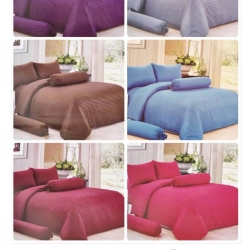 ชุดผ้านวม+ผ้าปูที่นอน เกรดA สีพื้น 6ฟุต 6ชิ้น เริ่มต้น 365บ