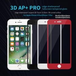 iPhone 8 Plus / 7 Plus (เต็มจอ/ขอบนิ่ม) - กระจกนิรภัย 3D AP+ PRO 0.23mm Nillkin แท้