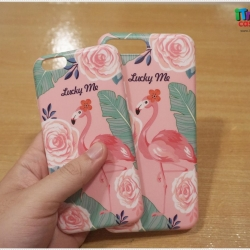 iPhone 6 / 6s - เคส TPU ลาย นกฟลามิงโก้ Flamingos Pink Lucky Me