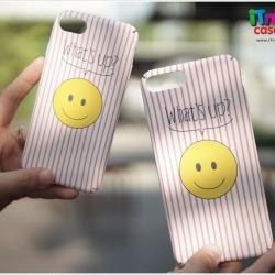 iPhone 7 - เคสปิดขอบ ลายหน้ายิ้ม What's up?