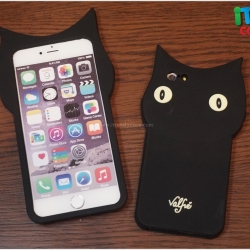 iPhone 6 Plus / 6s Plus - เคสซิลิโคน แมวดำ 3D