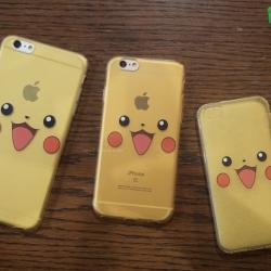 iPhone 5 / 5s / SE - เคสใสลายปิกาจู Pikachu Face Pokemon