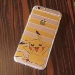 iPhone 6 / 6s - เคสใสลายปิกาจู Pikachu Stripes Pokemon