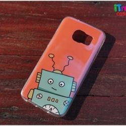 Samsung Galaxy S7 Edge - เคส TPU เงาวับ ลาย Green Robot
