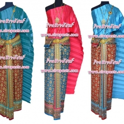 ชุดไทย-ผ้าพิมพ์ลายไทย A3-1 (สไบโบราณ+ผ้าพิมพ์ฯ) *แบบจับสด/รายละเอียดในหน้าสินค้า