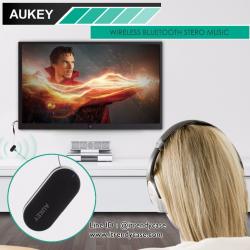 Aukey ตัวส่งสัญญาณ Bluetooth สำหรับ TV เพื่อให้เสียงออกลำโพง หรือหูฟังบูลทูดแบบไร้สาย แท้
