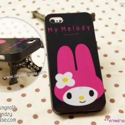 iPhone 5 / 5s / SE - เคสนิ่ม TPU ลาย My Melody พื้นหลังดำ