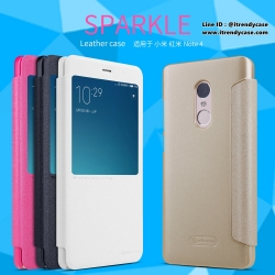 Xiaomi Redmi Note 4 - เคสฝาพับ Nillkin Sparkle leather case แท้